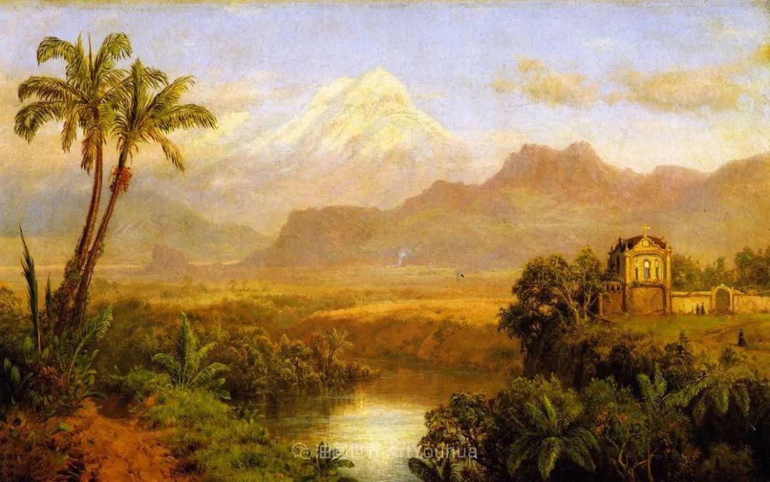 他的风景独具一格,大气、绚丽!美国画家路易斯·米格诺特插图39