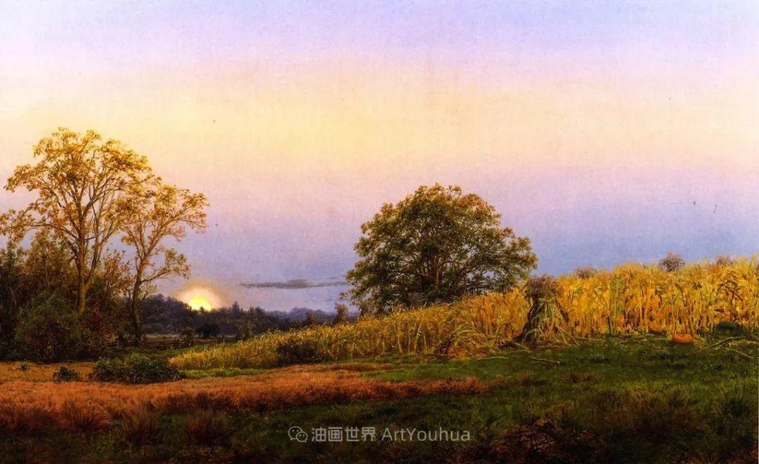 他的风景独具一格,大气、绚丽!美国画家路易斯·米格诺特插图43