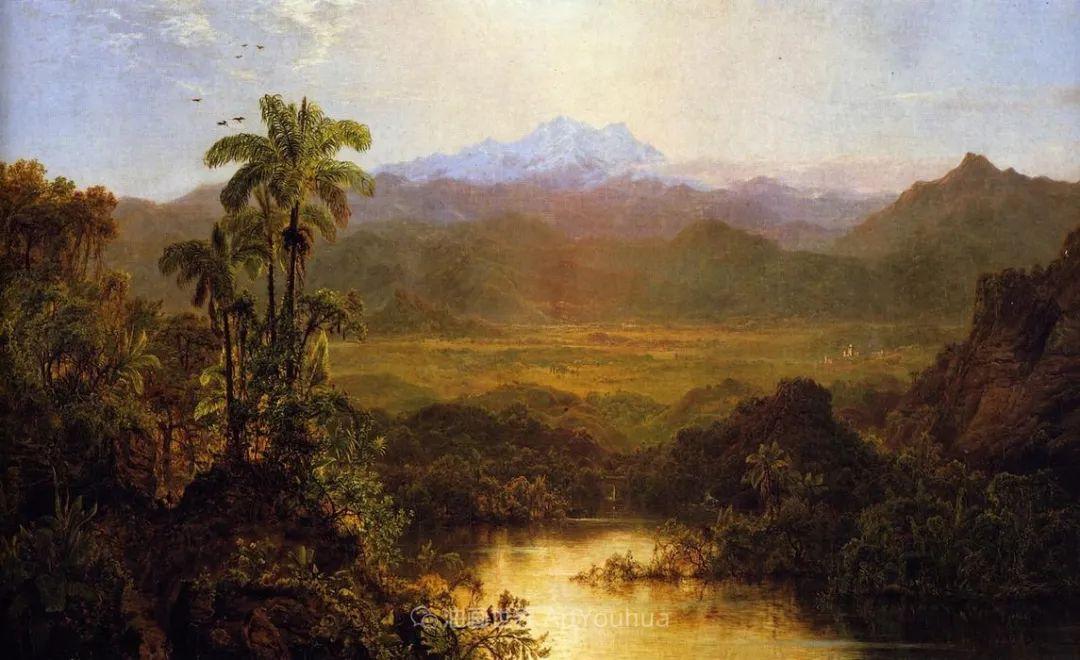 他的风景独具一格,大气、绚丽!美国画家路易斯·米格诺特插图45