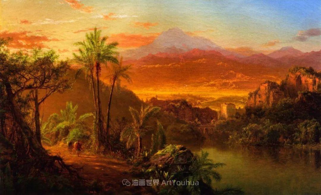 他的风景独具一格,大气、绚丽!美国画家路易斯·米格诺特插图51