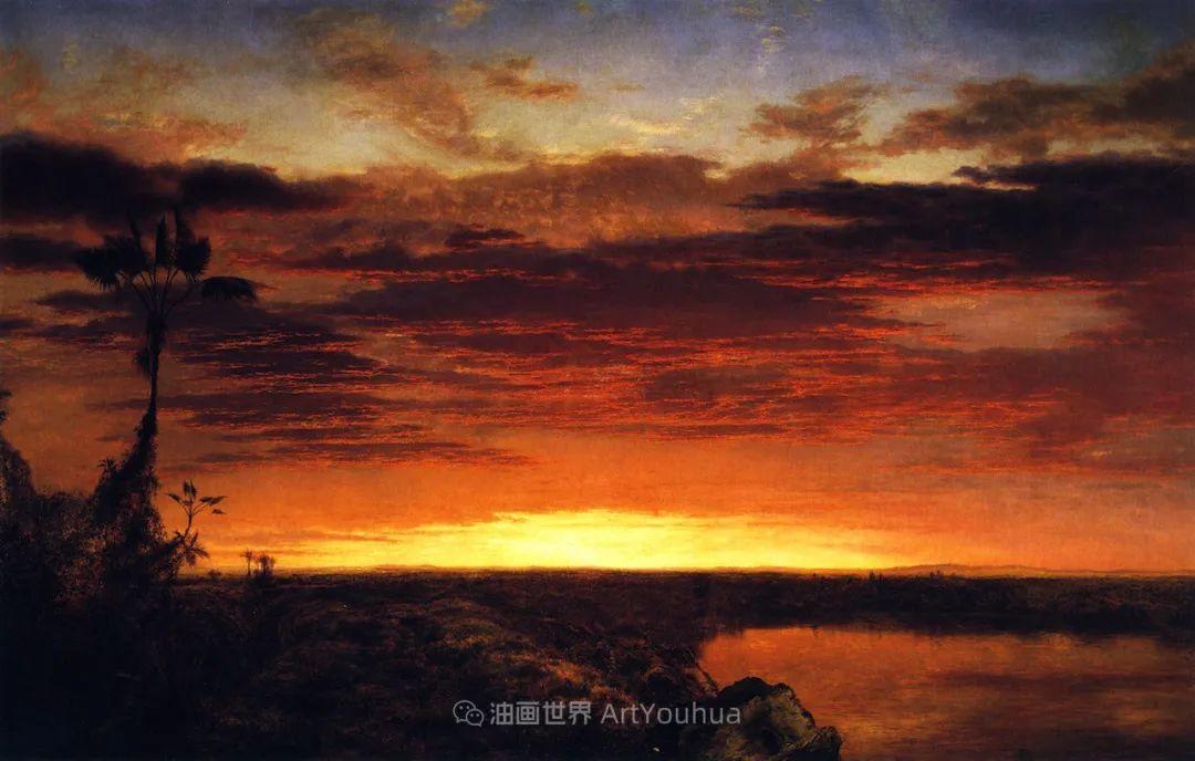 他的风景独具一格,大气、绚丽!美国画家路易斯·米格诺特插图53