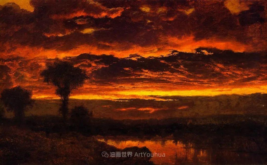 他的风景独具一格,大气、绚丽!美国画家路易斯·米格诺特插图55