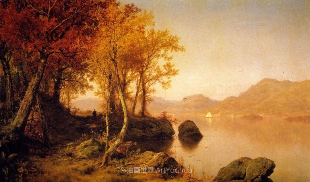 他的风景独具一格,大气、绚丽!美国画家路易斯·米格诺特插图59