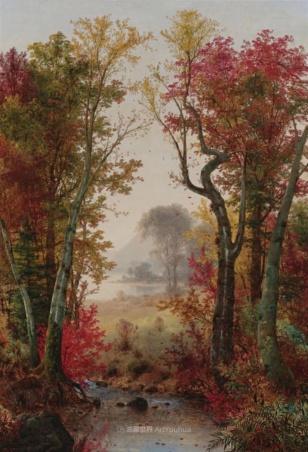 他的风景独具一格,大气、绚丽!美国画家路易斯·米格诺特插图61