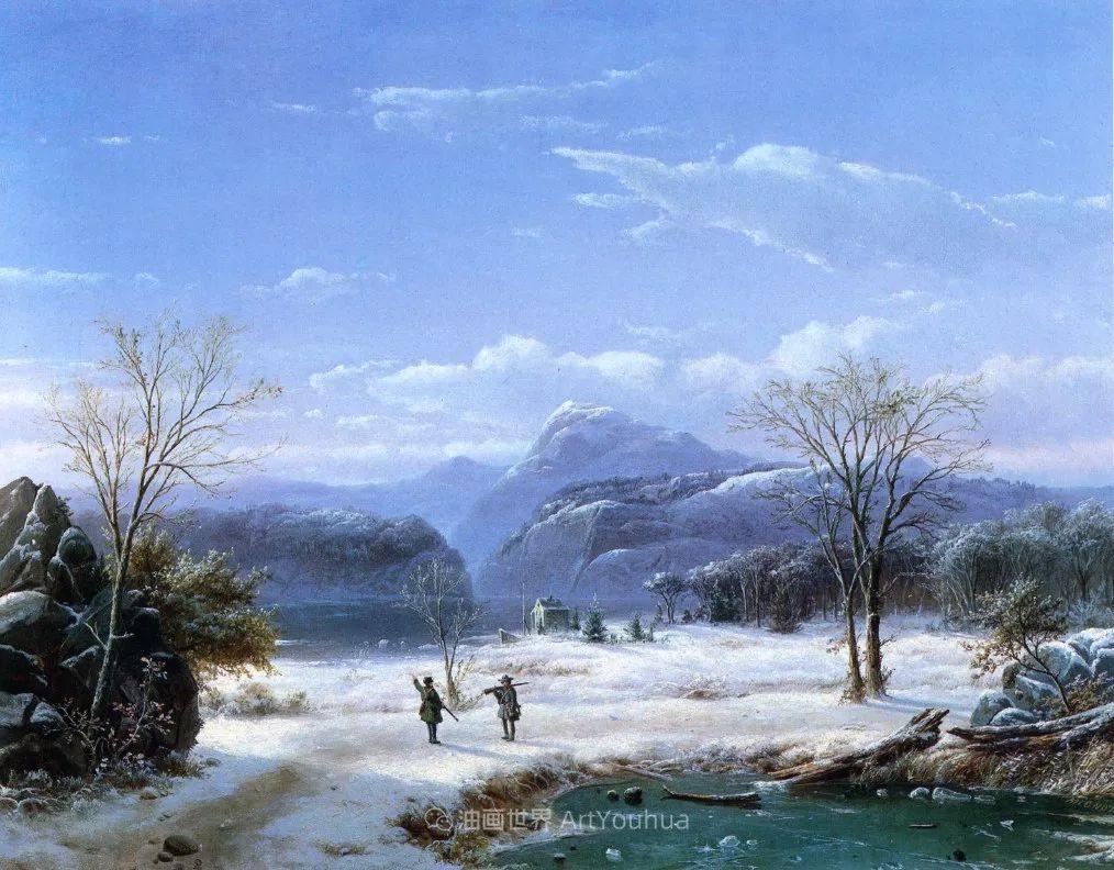 他的风景独具一格,大气、绚丽!美国画家路易斯·米格诺特插图63
