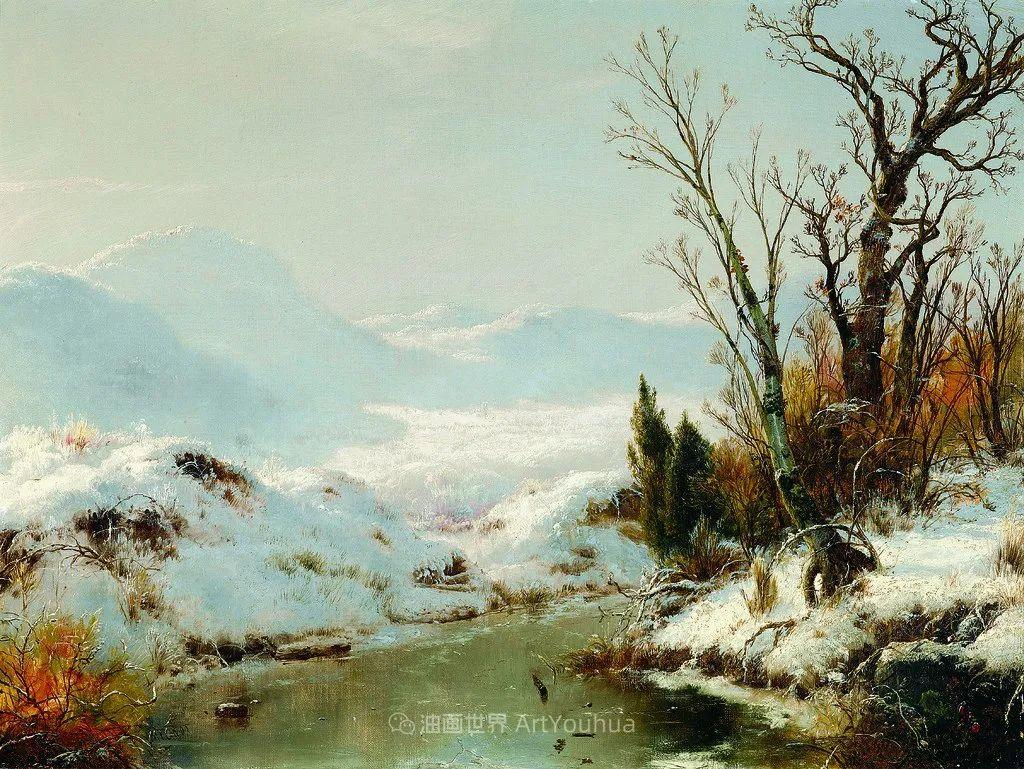 他的风景独具一格,大气、绚丽!美国画家路易斯·米格诺特插图65