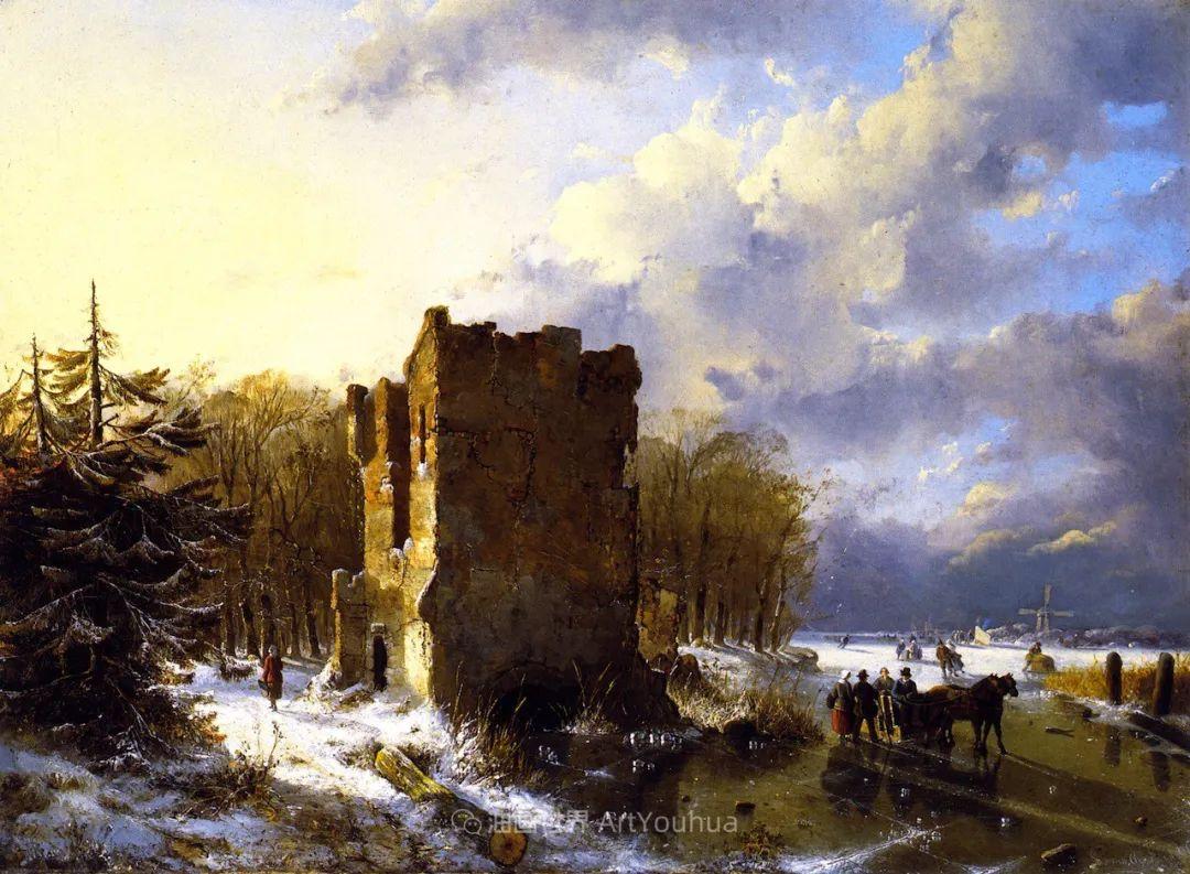 他的风景独具一格,大气、绚丽!美国画家路易斯·米格诺特插图67