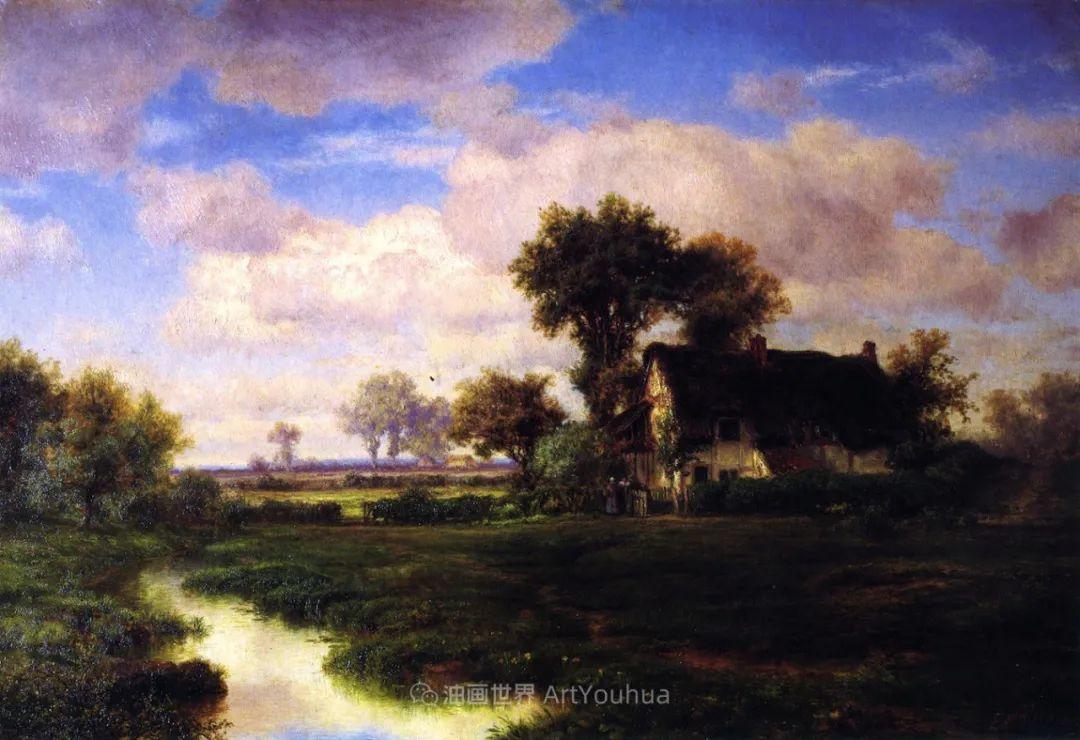 他的风景独具一格,大气、绚丽!美国画家路易斯·米格诺特插图71