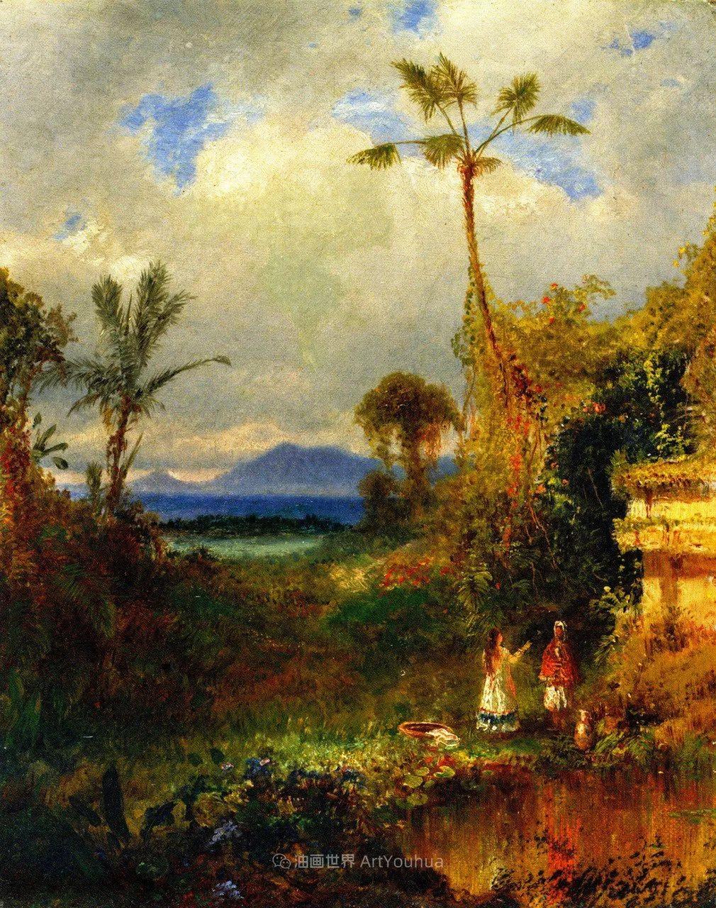 他的风景独具一格,大气、绚丽!美国画家路易斯·米格诺特插图73
