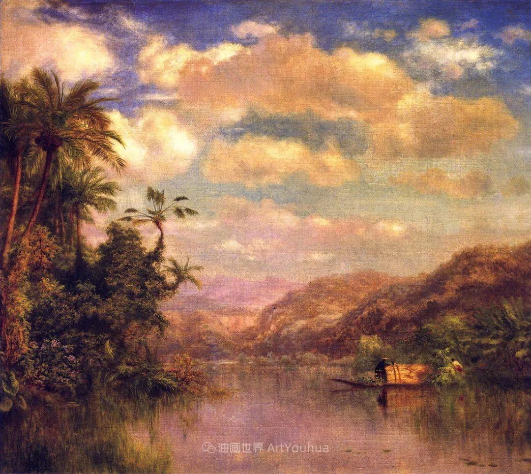 他的风景独具一格,大气、绚丽!美国画家路易斯·米格诺特插图75