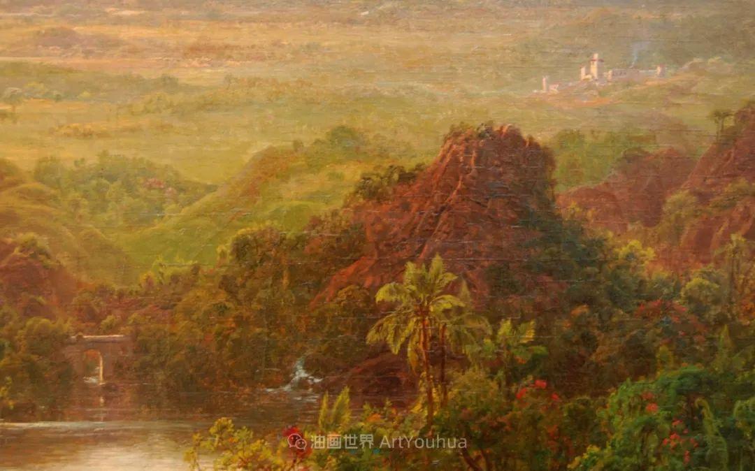 他的风景独具一格,大气、绚丽!美国画家路易斯·米格诺特插图77