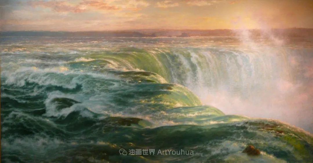 他的风景独具一格,大气、绚丽!美国画家路易斯·米格诺特插图81