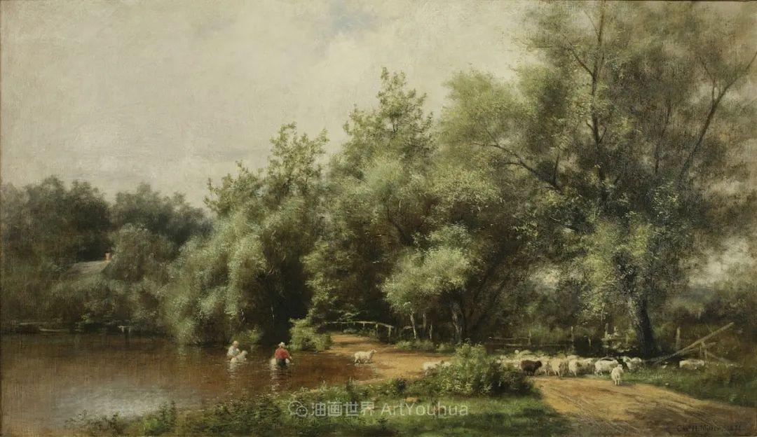 他的风景独具一格,大气、绚丽!美国画家路易斯·米格诺特插图85