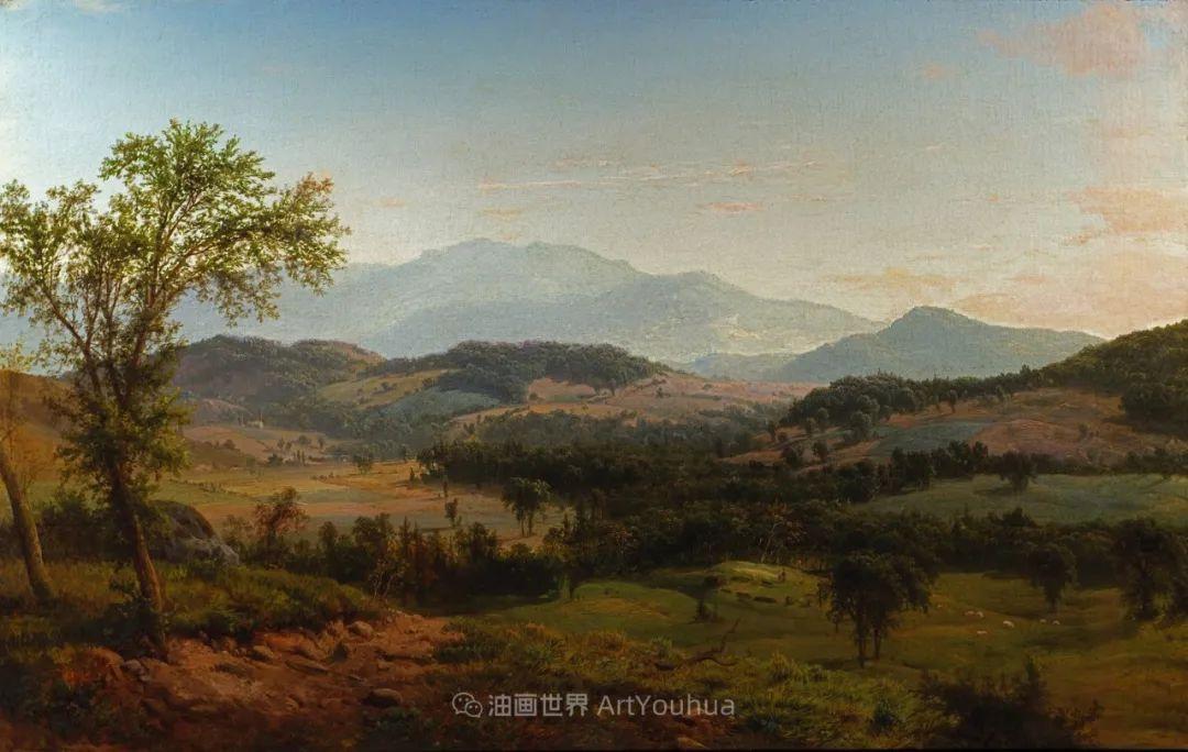 他的风景独具一格,大气、绚丽!美国画家路易斯·米格诺特插图89