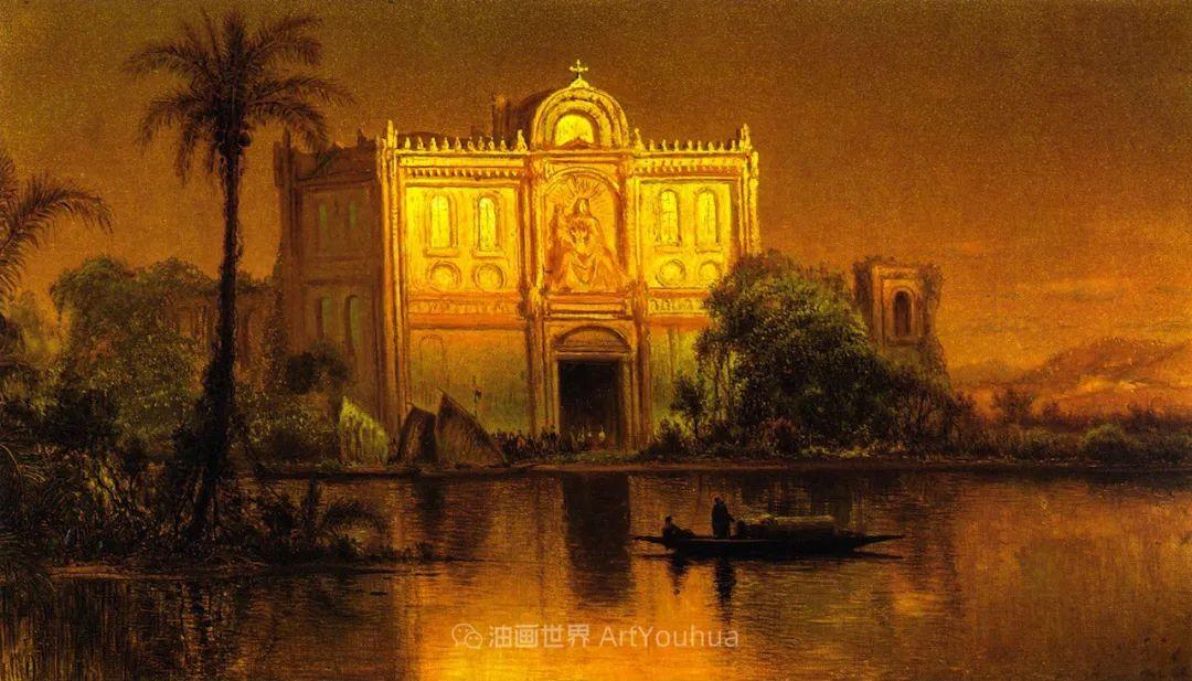 他的风景独具一格,大气、绚丽!美国画家路易斯·米格诺特插图91
