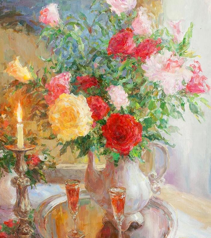 光色十足,印象风的静物花卉与人物,美得让人流连忘返!插图17