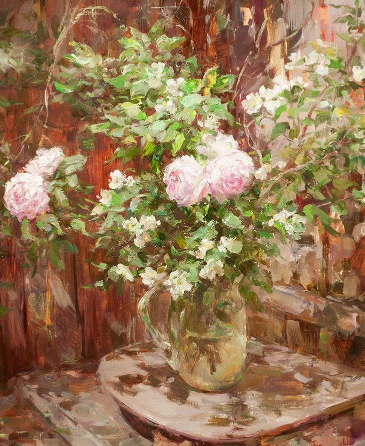 光色十足,印象风的静物花卉与人物,美得让人流连忘返!插图33