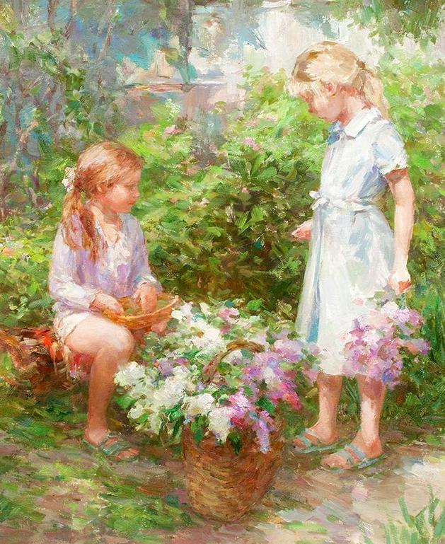 光色十足,印象风的静物花卉与人物,美得让人流连忘返!插图45
