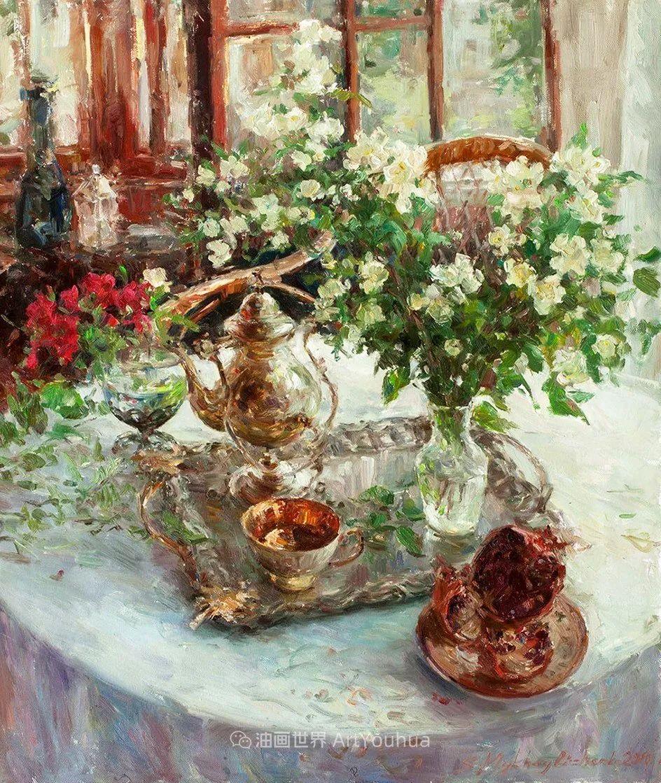 光色十足,印象风的静物花卉与人物,美得让人流连忘返!插图53