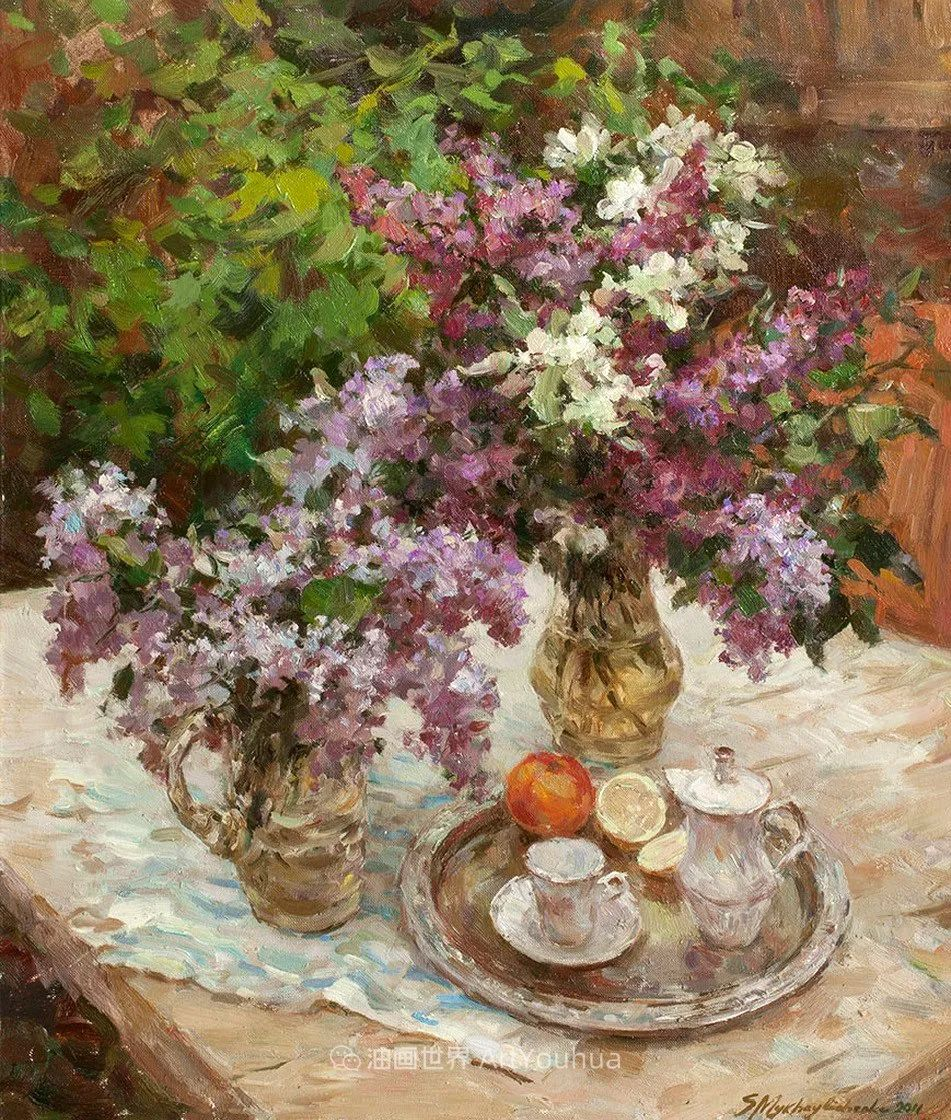 光色十足,印象风的静物花卉与人物,美得让人流连忘返!插图55