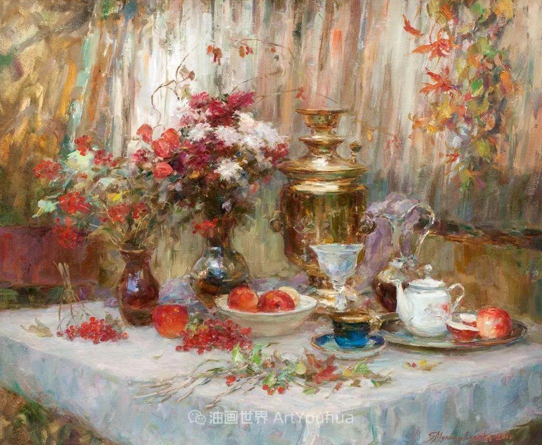 光色十足,印象风的静物花卉与人物,美得让人流连忘返!插图79
