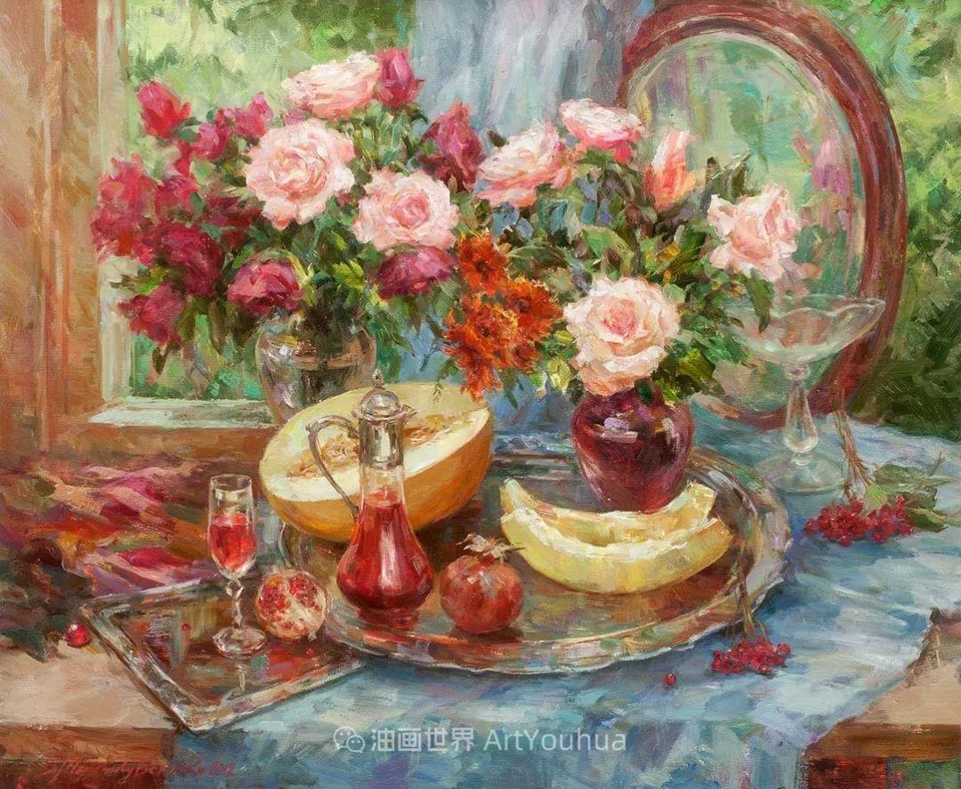 光色十足,印象风的静物花卉与人物,美得让人流连忘返!插图89