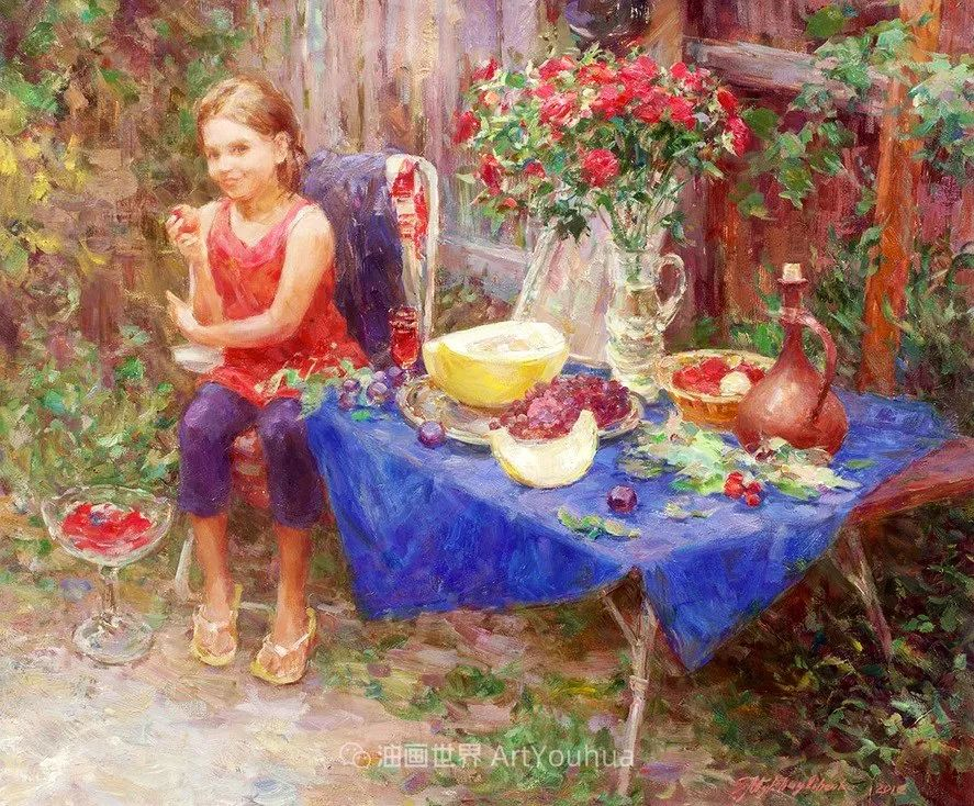 光色十足,印象风的静物花卉与人物,美得让人流连忘返!插图97