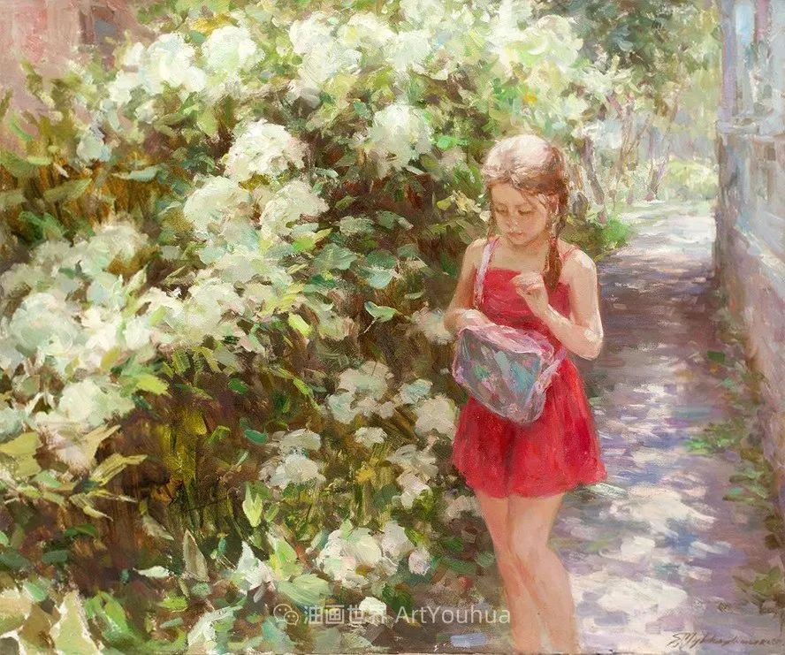 光色十足,印象风的静物花卉与人物,美得让人流连忘返!插图103