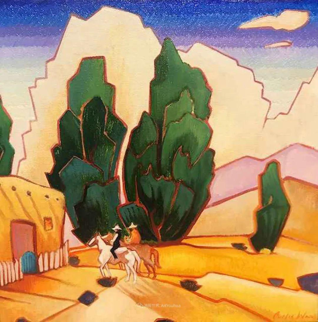 充满活力的构图,美国画家柯蒂斯·韦德插图13