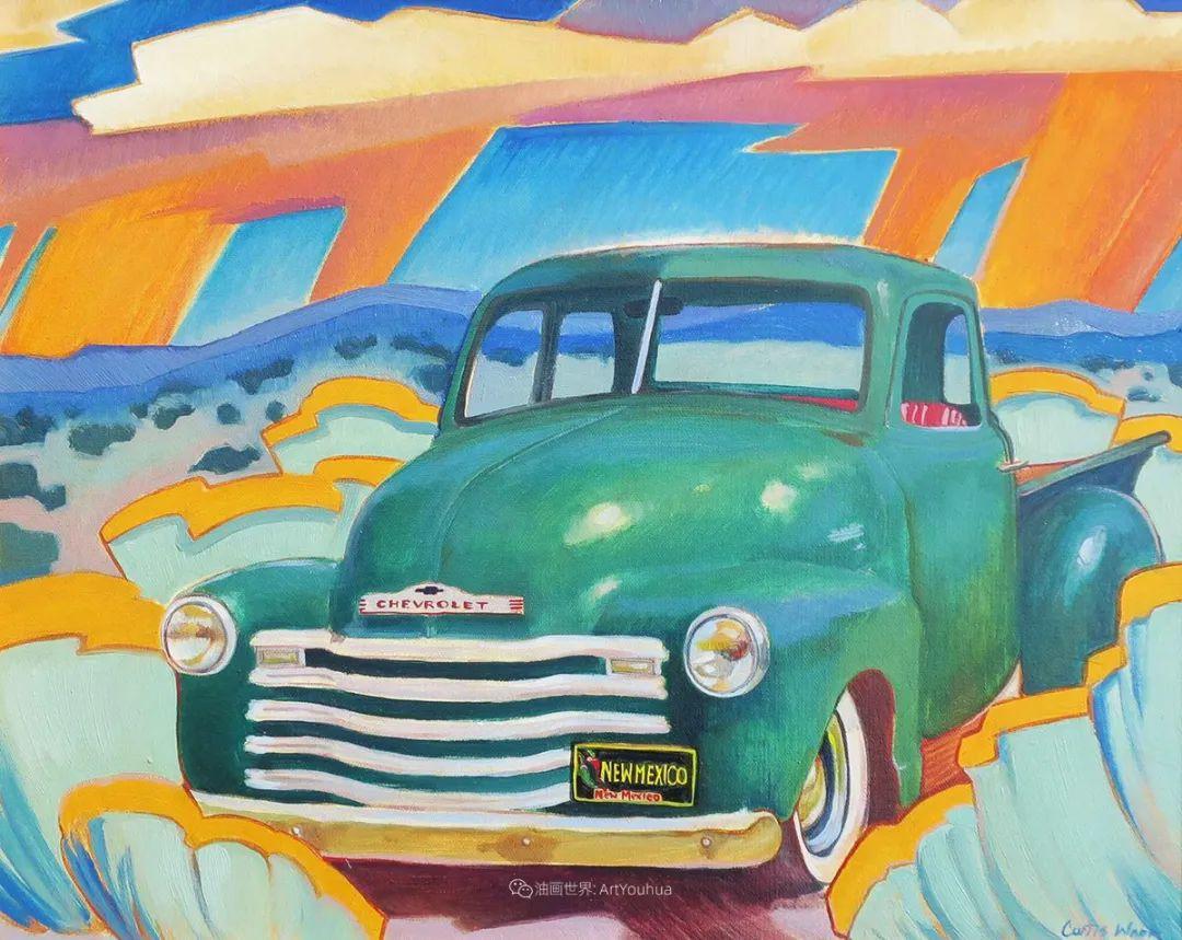 充满活力的构图,美国画家柯蒂斯·韦德插图39