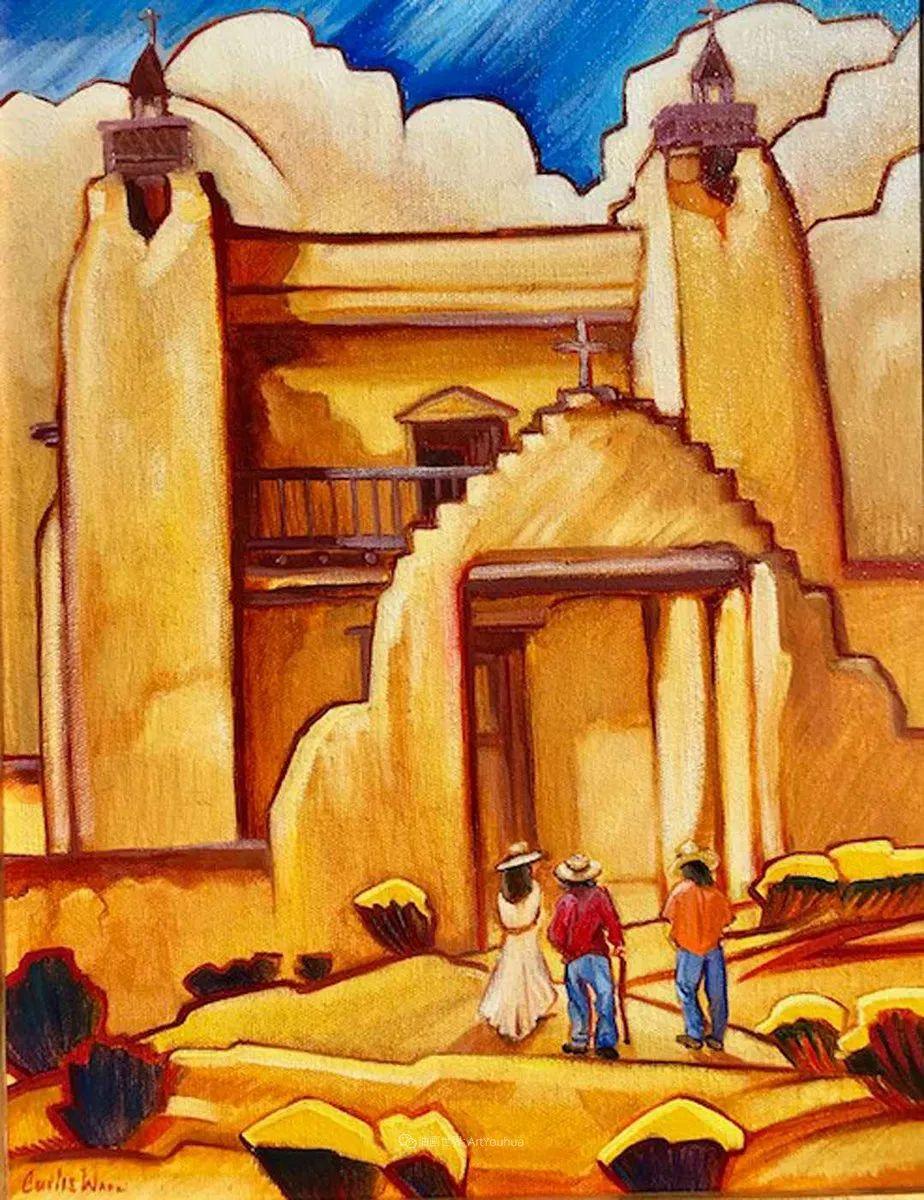 充满活力的构图,美国画家柯蒂斯·韦德插图45