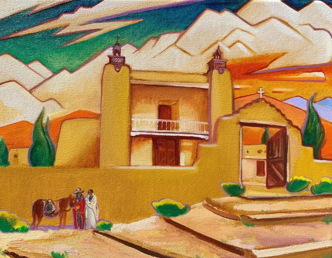 充满活力的构图,美国画家柯蒂斯·韦德插图47