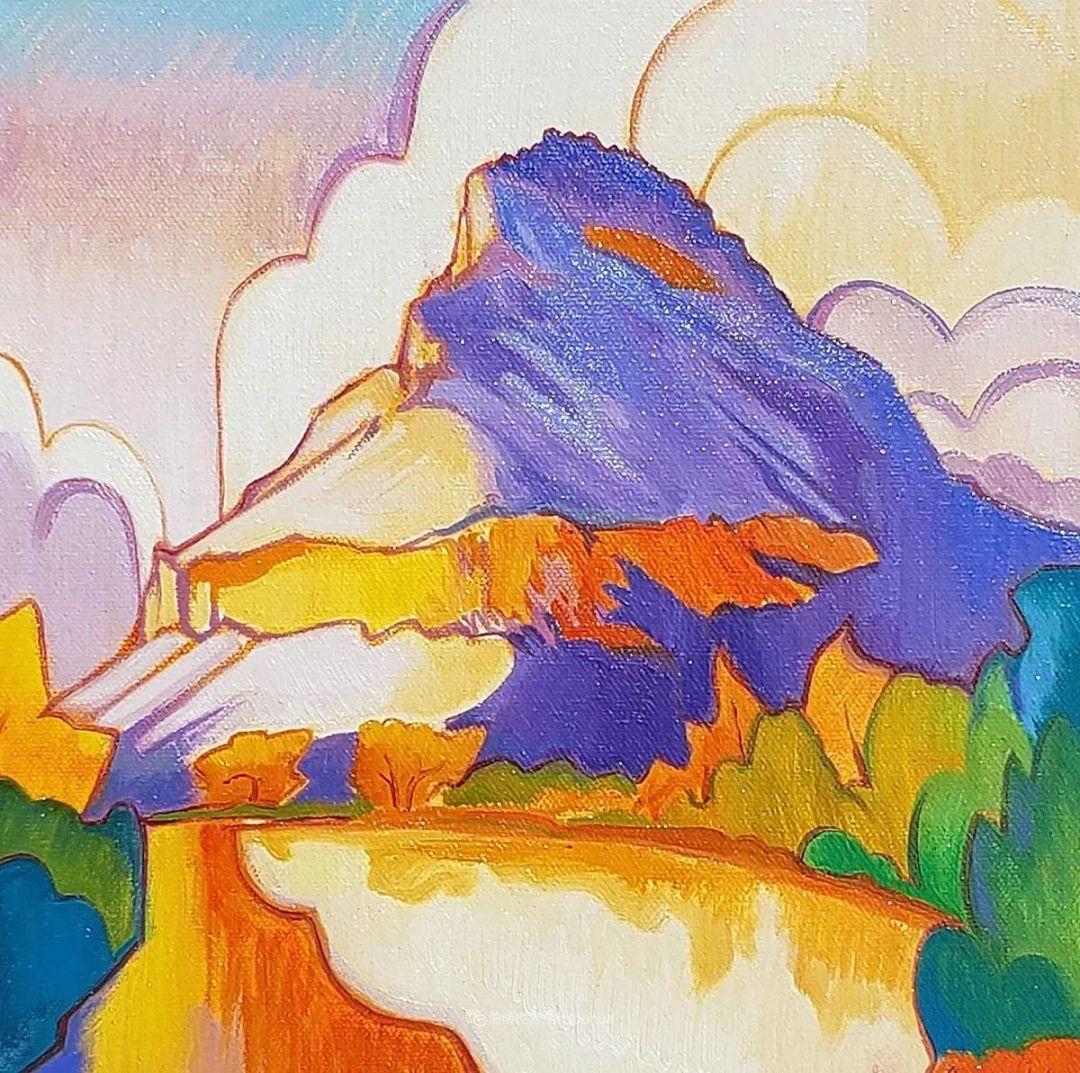 充满活力的构图,美国画家柯蒂斯·韦德插图53