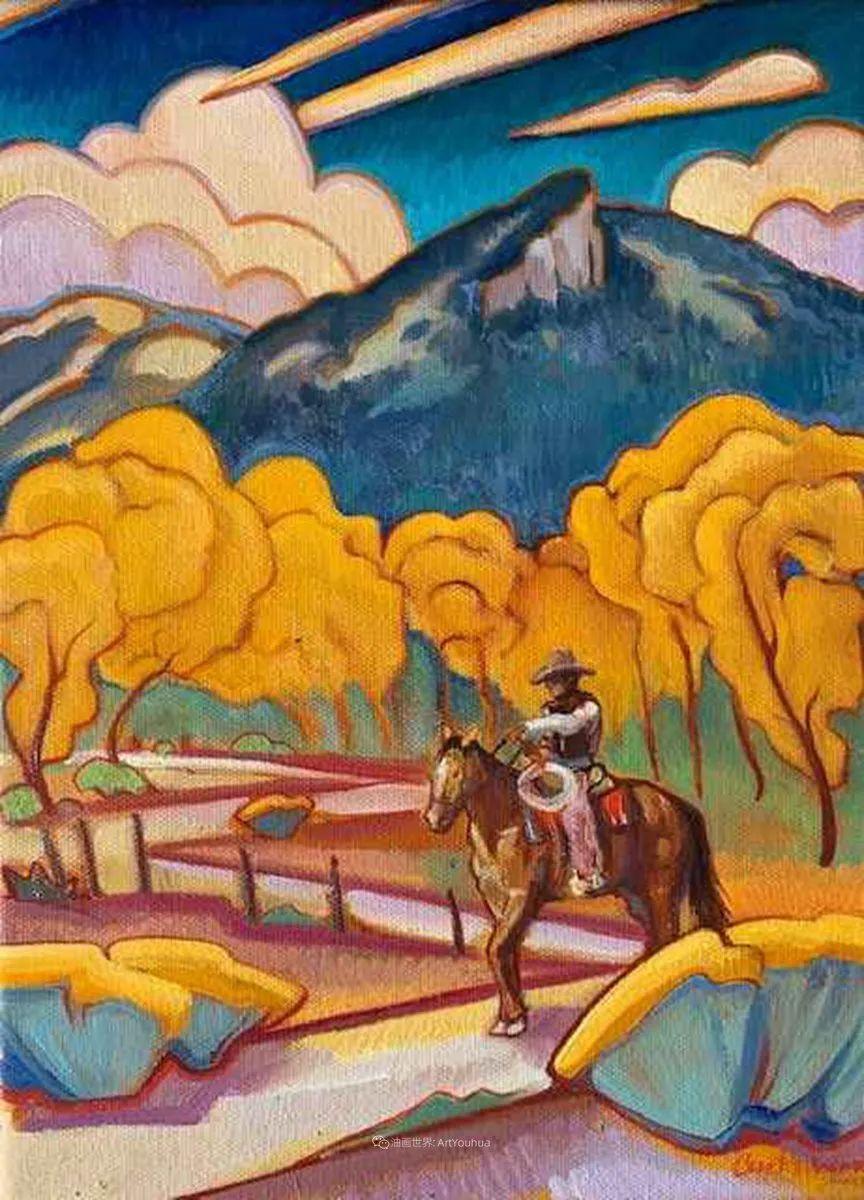 充满活力的构图,美国画家柯蒂斯·韦德插图63