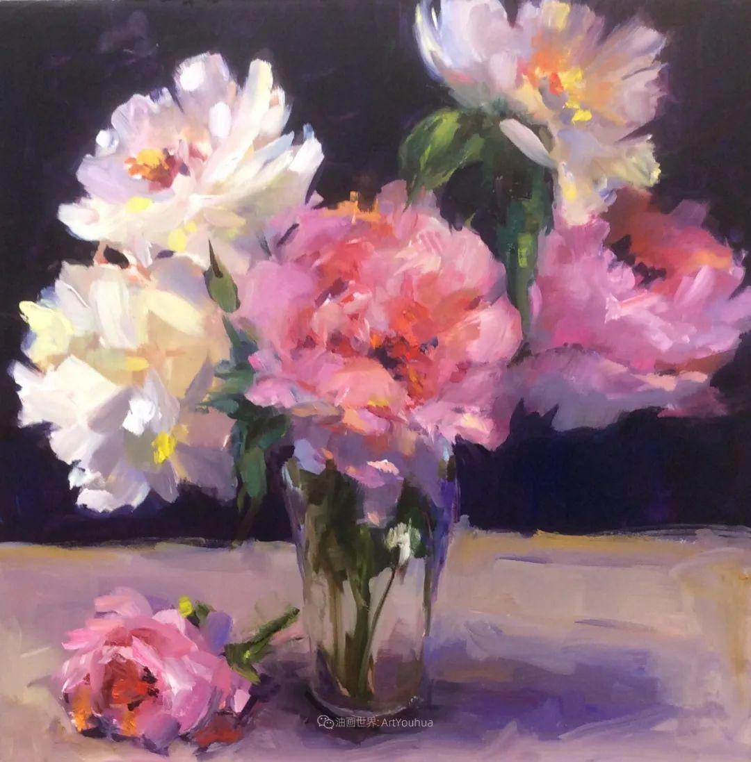 大笔触、充满活力色彩的花卉,美国女画家劳里·莱普科斯卡插图3