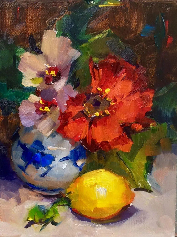 大笔触、充满活力色彩的花卉,美国女画家劳里·莱普科斯卡插图11