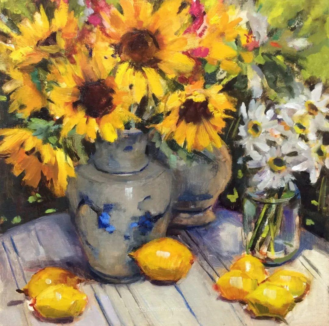 大笔触、充满活力色彩的花卉,美国女画家劳里·莱普科斯卡插图17