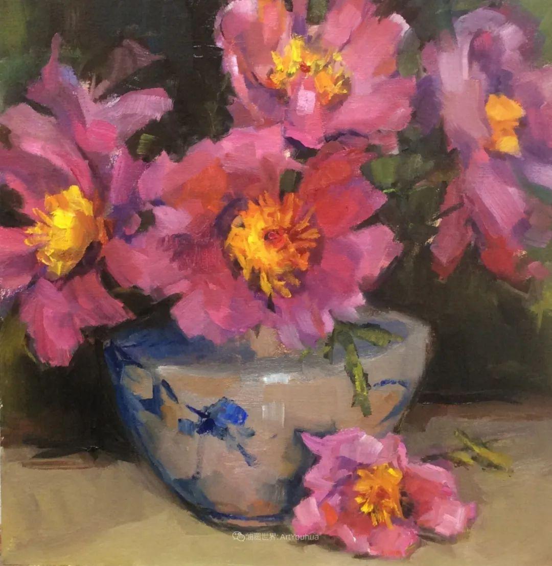 大笔触、充满活力色彩的花卉,美国女画家劳里·莱普科斯卡插图21