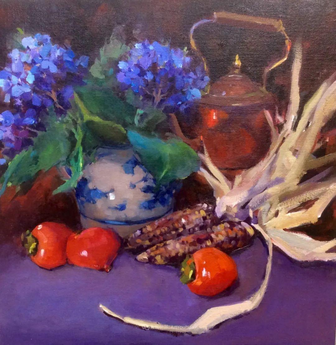 大笔触、充满活力色彩的花卉,美国女画家劳里·莱普科斯卡插图23