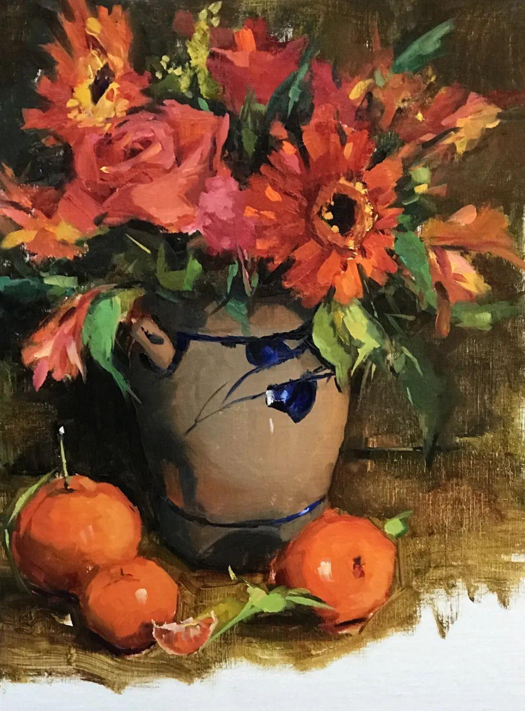 大笔触、充满活力色彩的花卉,美国女画家劳里·莱普科斯卡插图25