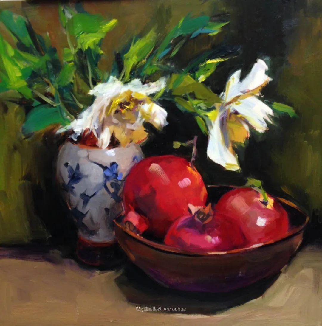 大笔触、充满活力色彩的花卉,美国女画家劳里·莱普科斯卡插图27