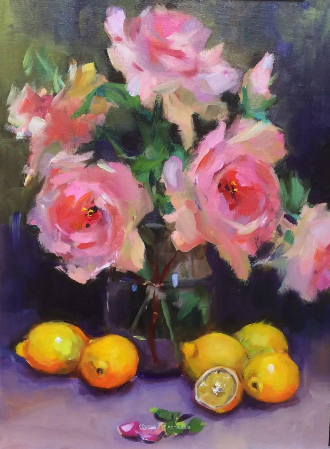 大笔触、充满活力色彩的花卉,美国女画家劳里·莱普科斯卡插图33