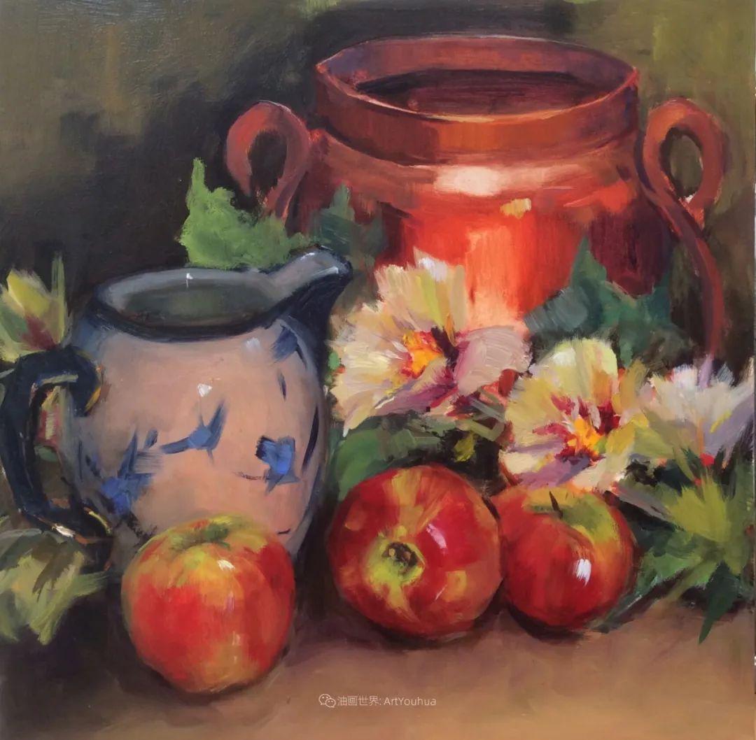 大笔触、充满活力色彩的花卉,美国女画家劳里·莱普科斯卡插图35