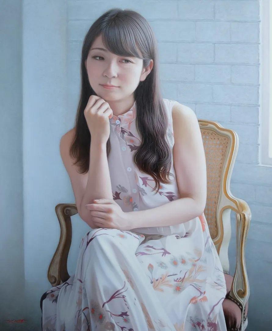 日本画家佐藤功笔下的清纯美女,如照片般的质感!插图1