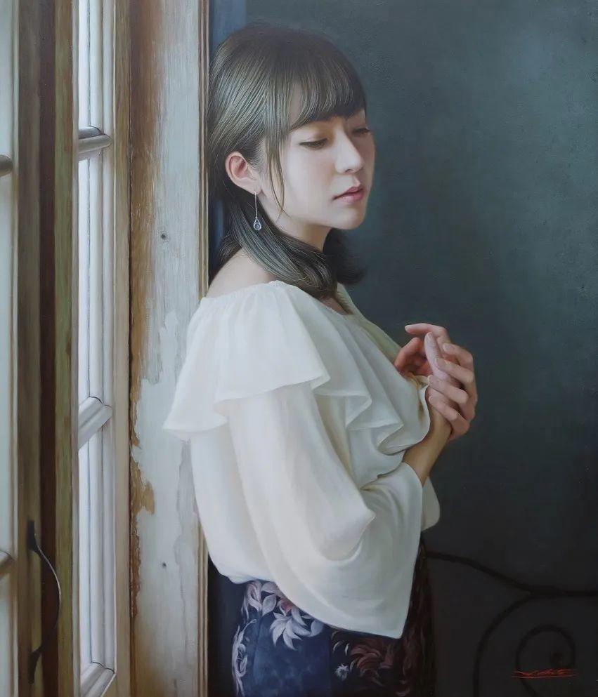 日本画家佐藤功笔下的清纯美女,如照片般的质感!插图3