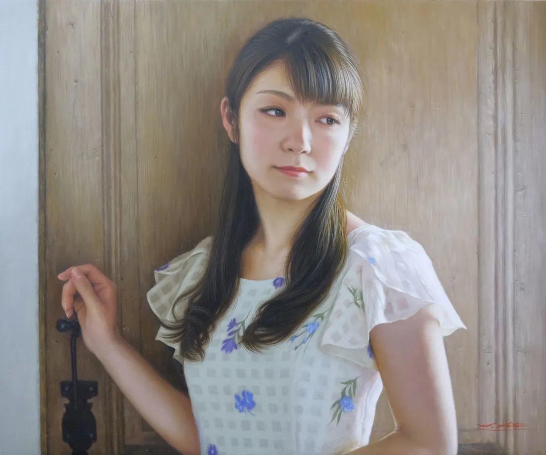 日本画家佐藤功笔下的清纯美女,如照片般的质感!插图7