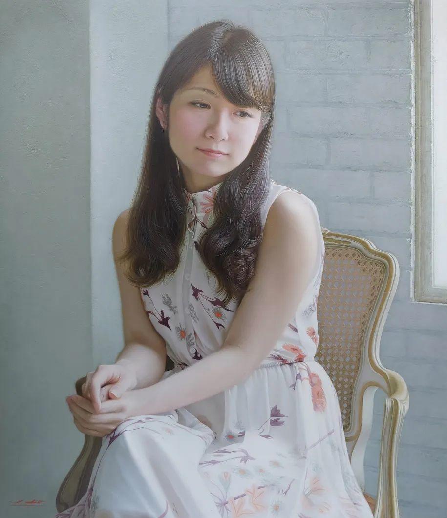 日本画家佐藤功笔下的清纯美女,如照片般的质感!插图9