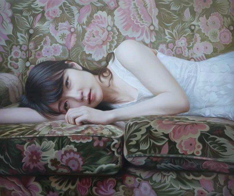 日本画家佐藤功笔下的清纯美女,如照片般的质感!插图11