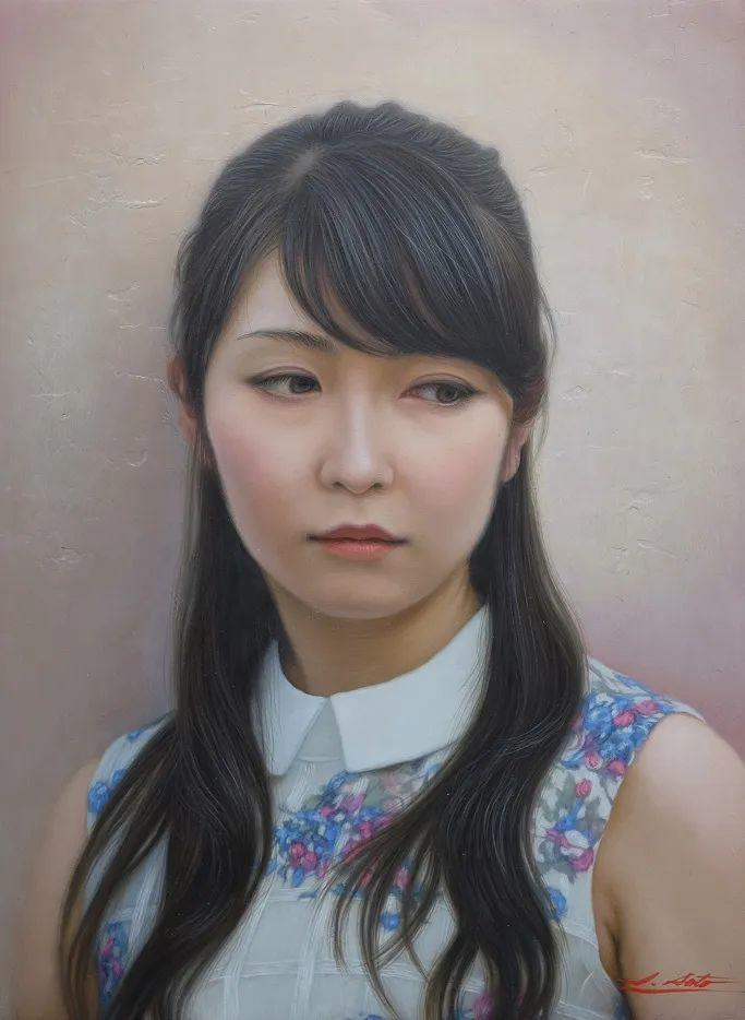 日本画家佐藤功笔下的清纯美女,如照片般的质感!插图13