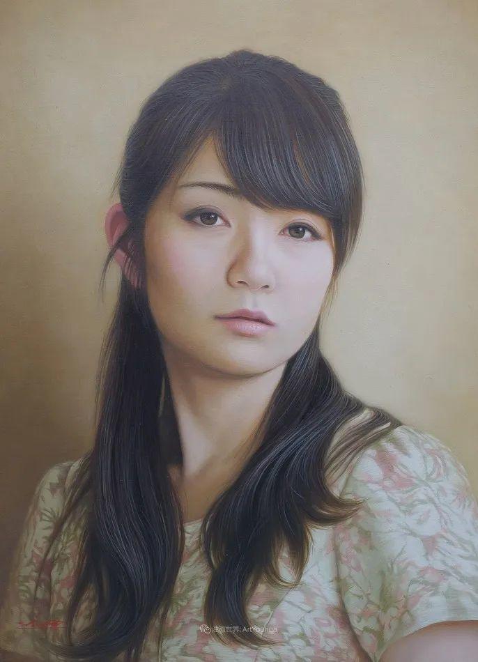日本画家佐藤功笔下的清纯美女,如照片般的质感!插图15